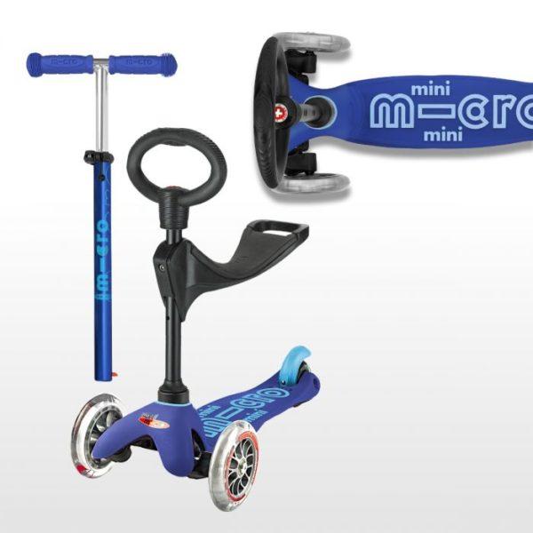 Mini Micro Scooter Deluxe 3 in 1